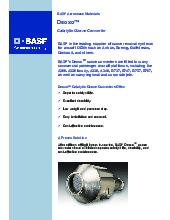 BASF Catalysts | Aircraft Cabin / Fuel Inerting